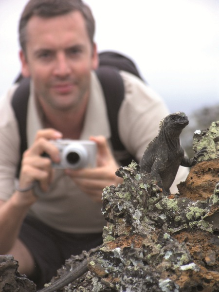 Galapagos wildlife shows little fear of human visitors