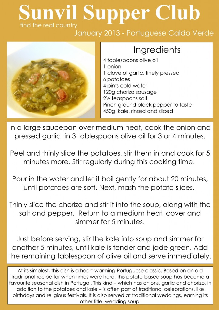 Portuguese Caldo Verde Recipe Card | Sunvil Supper Club