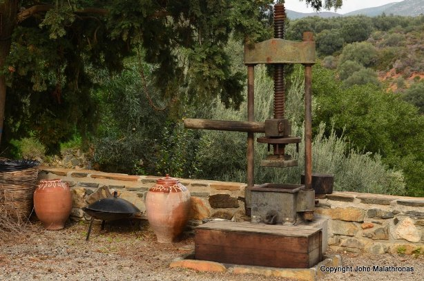 Old style olive press