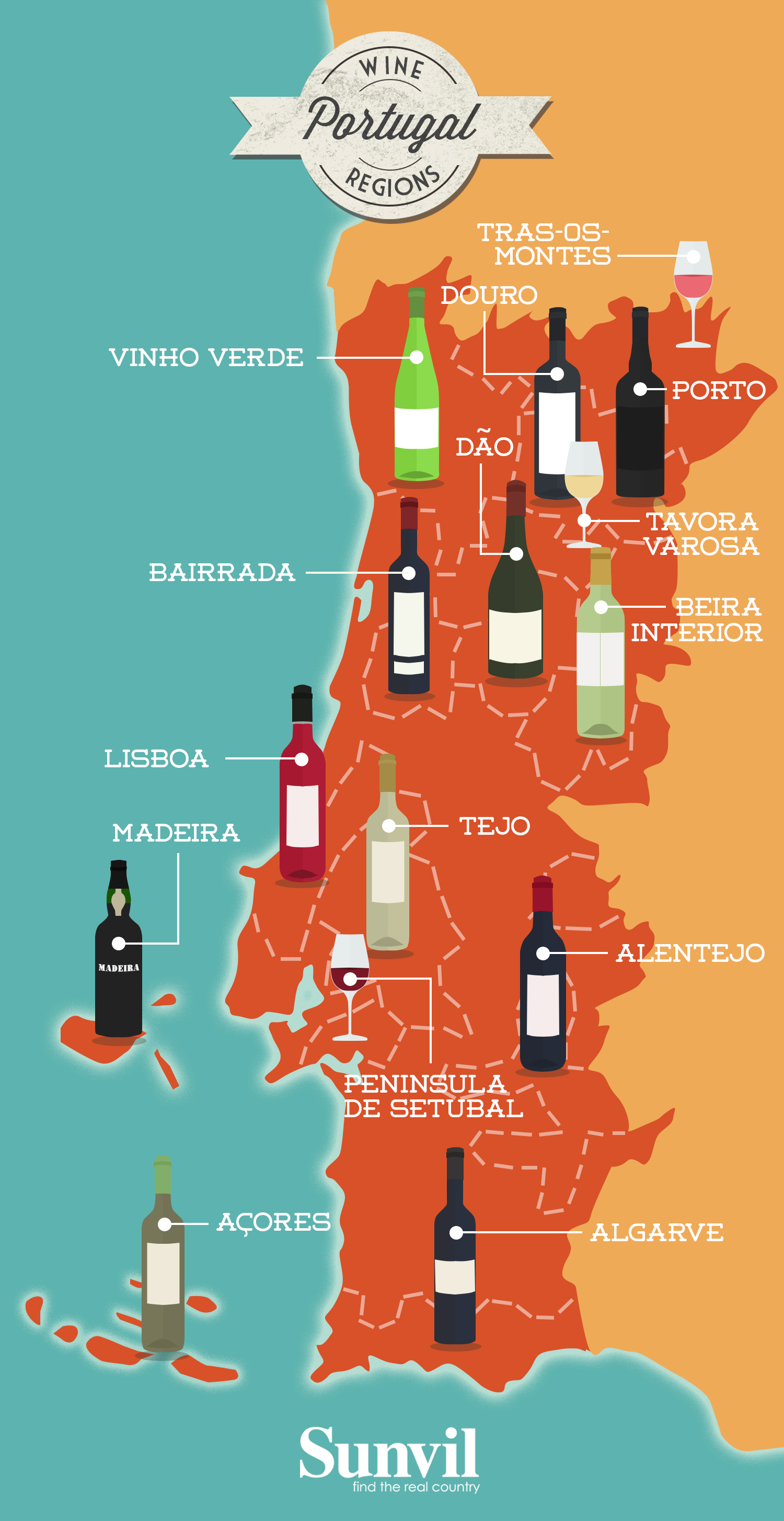Map Of The Wine Regions Of Portugal Portuguese Wine Map - Map portugal madeira azores