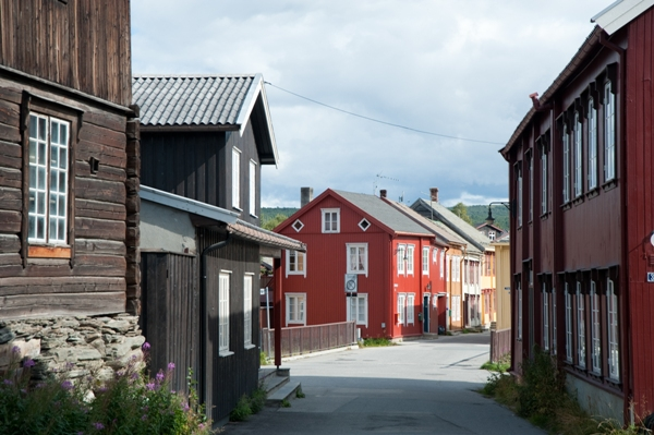 Roros a heritage city in North-Norway that noted for Copper Mining. Unesco's world heritage list