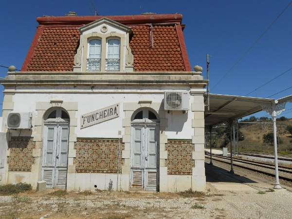 The old railway station at Funcheira