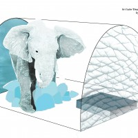 Elephant in the room Art Suite, ICEHOTEL