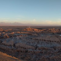 Panorama of the Moon Valley, Atacama.