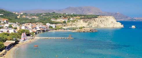 Almirida Beach, Crete, Greece