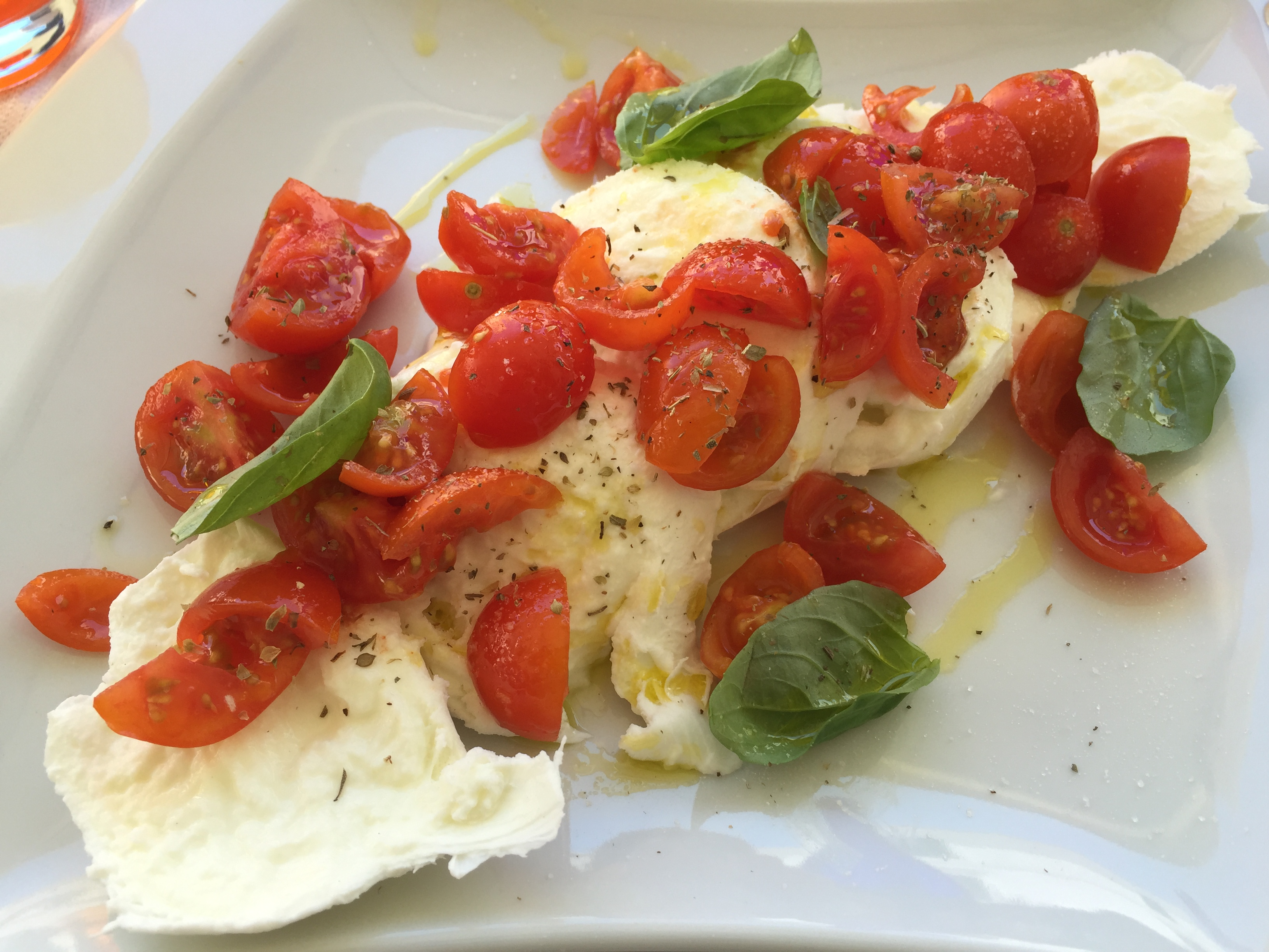 Caprese with buffalo mozzarella