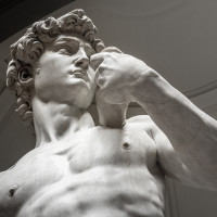 Michelangelo's 'David' in the Accademia Gallery