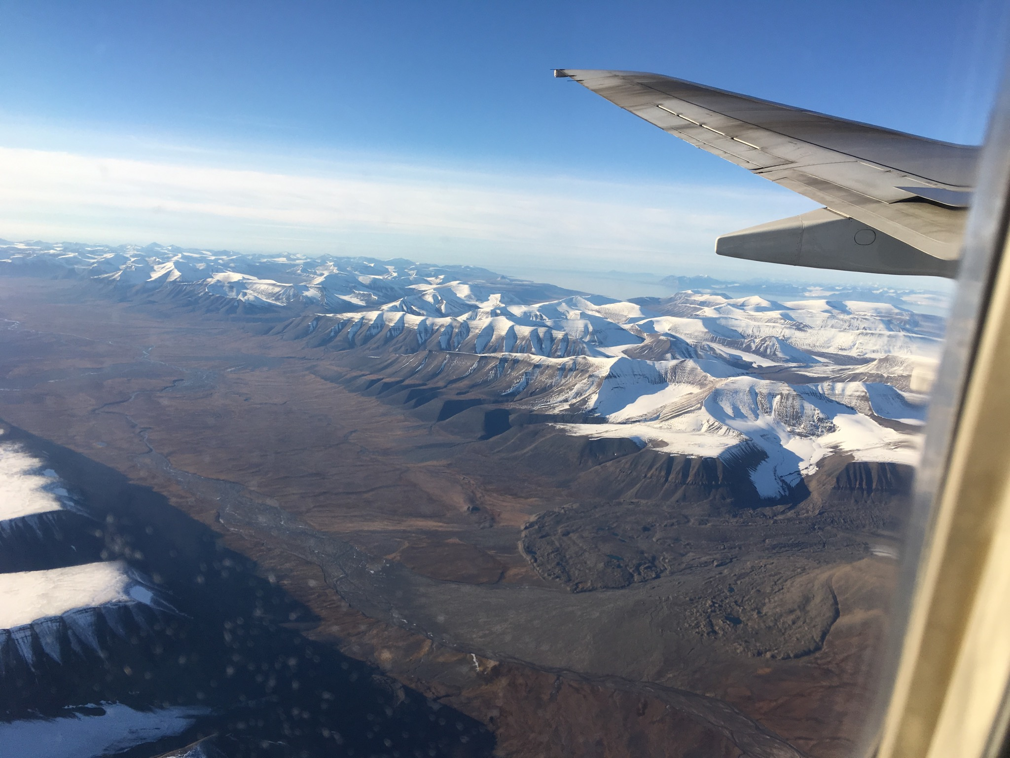 Flying into Svalbard