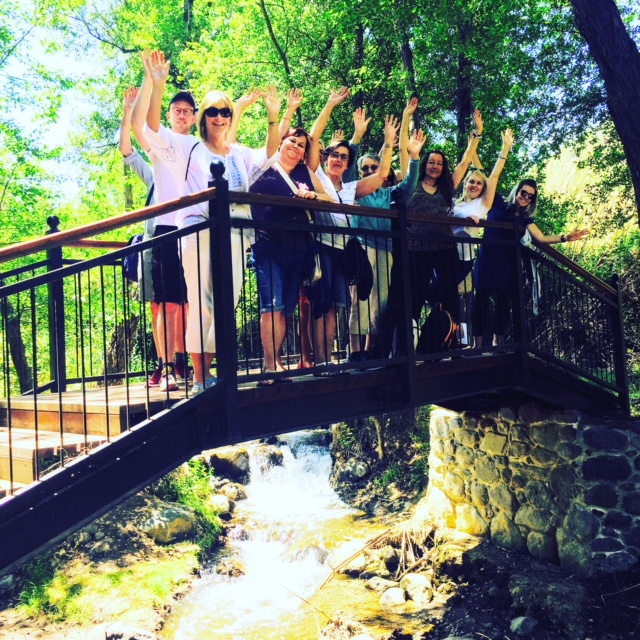 Stella and her group set to enjoy the natural wonders of the Troodos Mountains.