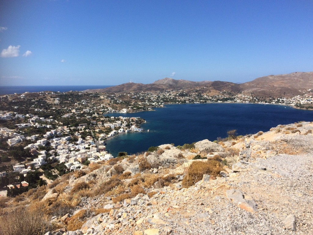 Stunning view of Leros from Leros Castle